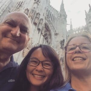 Sam and friends in Milan