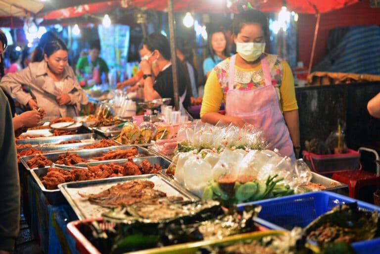 night market food in Pantai Cenang langkawi